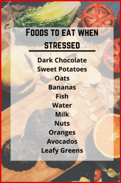 a list of foods to eat when stressed