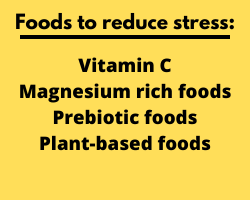 Foods to reduce stress chart
