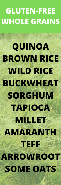LIST of gluten free whole grains