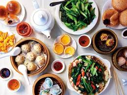 Top view of a Chinese dining table
