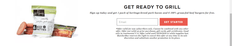Get ready to grill promo from butcherbox