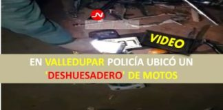 EN VALLEDUPAR POLICÍA UBICÓ UN 'DESHUESADERO' DE MOTOS
