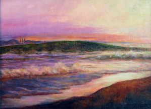 "Ocean at Morro Bay ~ Oil painting on canvas ~ 9"" x 12"" unframed, 12"" x 15"" framed"