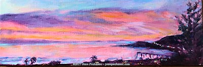 "Image of an oil painting - Coming Home Original Oil by Joan Pechanec Image Size: 12"" x 4"" $95"