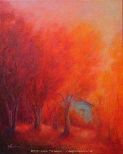 Autumn Retreat ~ Oil Painting on Canvas ~ 16 x 20 unframed ~ 20 x 24 framed ~ $450