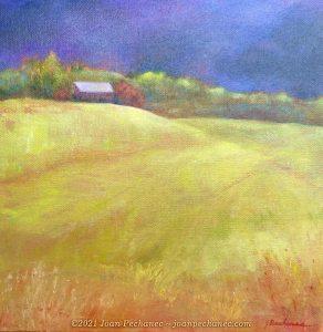 Dark Sky Oil Painting on Canvas ~ 12 x 12 ~ $190
