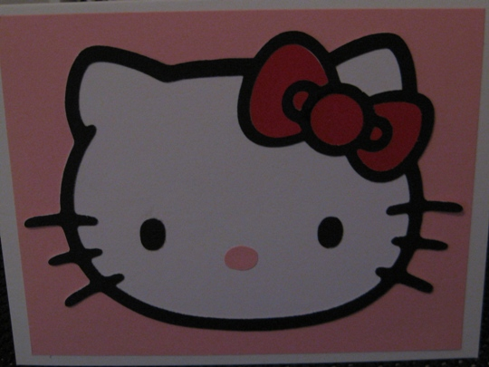 Hello kitty greetings cricut card idea for the inside of the card i cut the happy birthday saying that was on the cartridge on pink cardstock and using a zig 2 way glue just applied each letter m4hsunfo