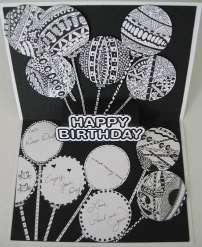 A Happy Birthday Zentangle Cricut Card Idea