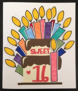 sweet sixteen cricut explore