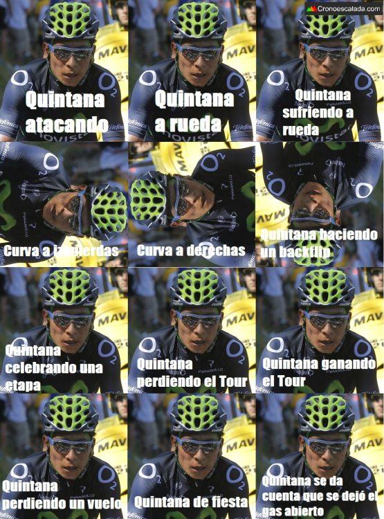 Cara del ciclista Nairo Quintana JoanSeguidor