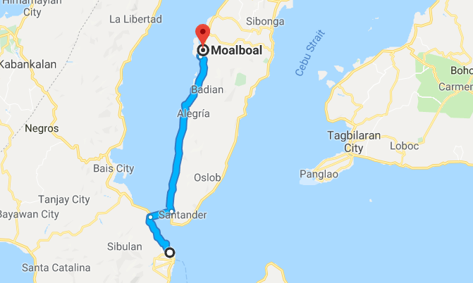 dumaguete to moalboal