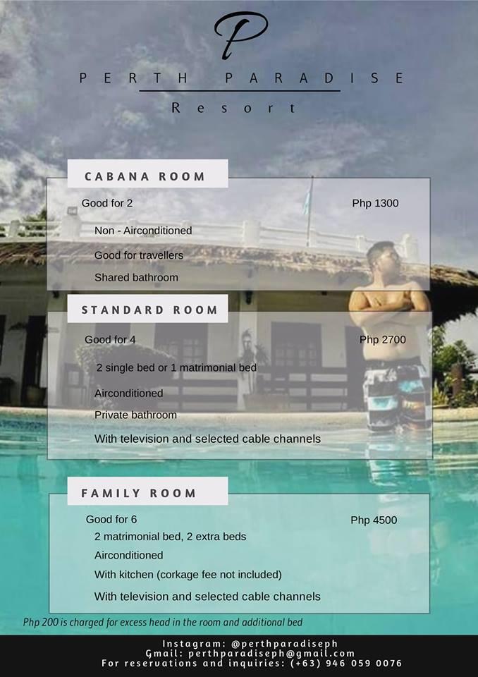Pert Paradise Resort Rates
