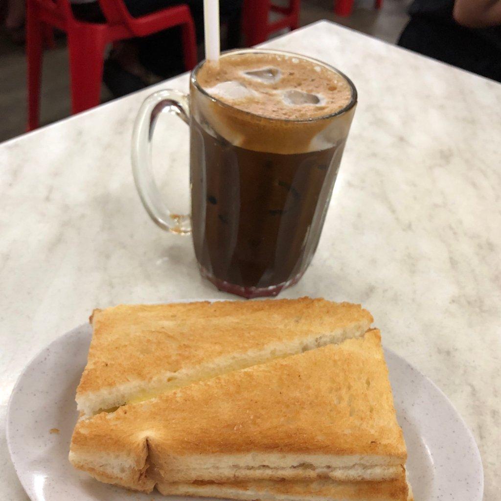 Kaya toast and hainan tea
