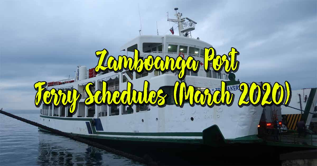 Zamboanga Port Ferry Schedules