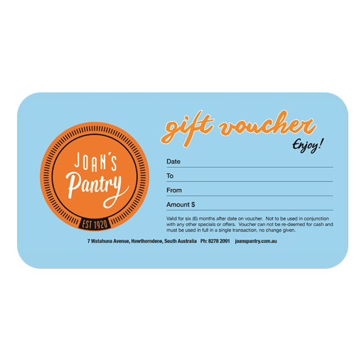 Joans Pantry gift card