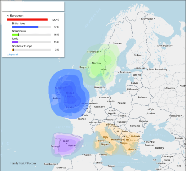DNA Ethnicity Map