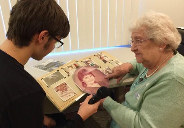 Teen interviews grandmother