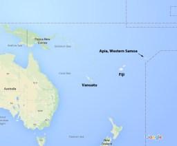 South Seas Map
