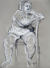 Large Female, Seated on Chair