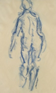 Female Gesture Standing, in Motion