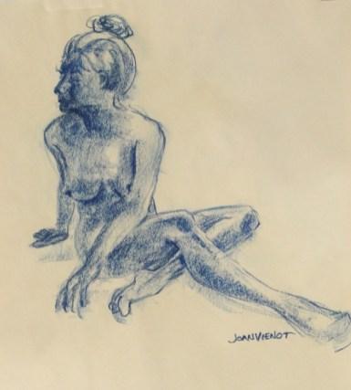 Female Seated on Floor, Twisting