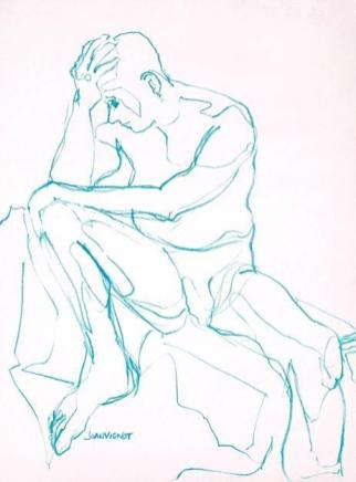 Continuous Line Contemplation, Aqua