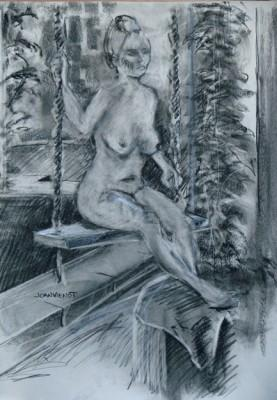 On the Swing, Charcoal