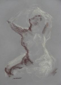 2011-0119 Gesture, cross-legged, looking up