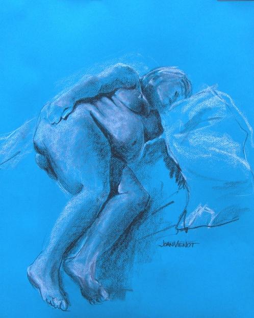 2011 0126 Reclining, on Blue