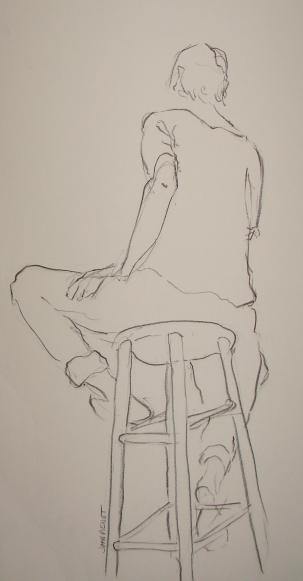 2011-0309 Seated on stool