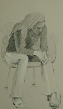 2011-1123 Seated head bowed