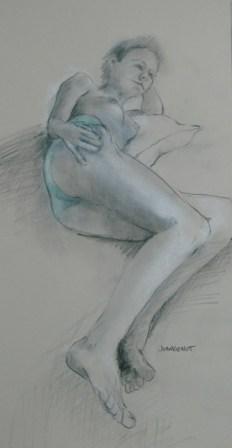2011-1207 Foreshortened, green panties