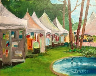 Tents at ArtsQuest Fine Arts and Music Festival, Watercolor, FL