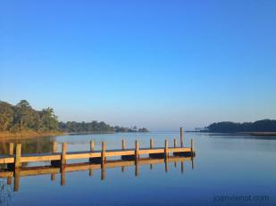 Photo of the dock at the boat launch at Point Washington, FL, by Joan Vienot