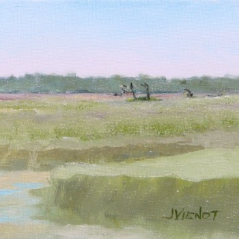 Oil painting of the marsh on Sea Island, later re-worked -- see 2014-1123 Sea Island Marsh 2