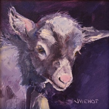 Oil painting of a baby nubian goat at the Florida Chautauqua Assembly, 2015