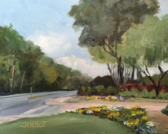 Painting of the entrance to the Winn Dixie parking lot in Bluewater Bay, Niceville, FL