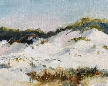 Oil painting of the dunes at Henderson Beach State Park