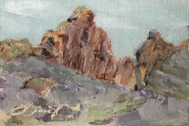 Oil painting (study) at Devil's Backbone Open Space, Larimer County, Colorado