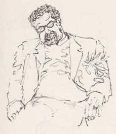 Airport Sketches, Man Dozing
