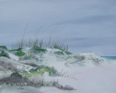 Oil painting at Henderson Beach State Park