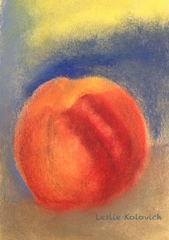 Study of Peach by Leslie Kolovich