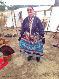 Debbie Bush, Muskogee Creek cultural display