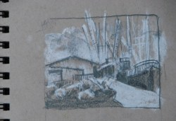 2014-0513 Value Sketch, Fishing Boats