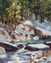 Art Center of Estes Park, Estes Valley Plein Air event | Painting by Kathleen Lanzoni