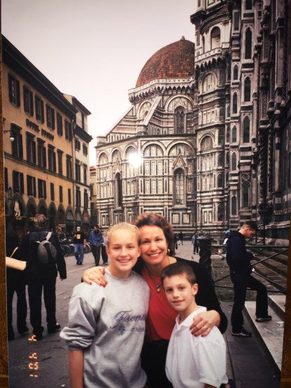 In front of the Duomo, Spring Break 2001, Florence, Italy.