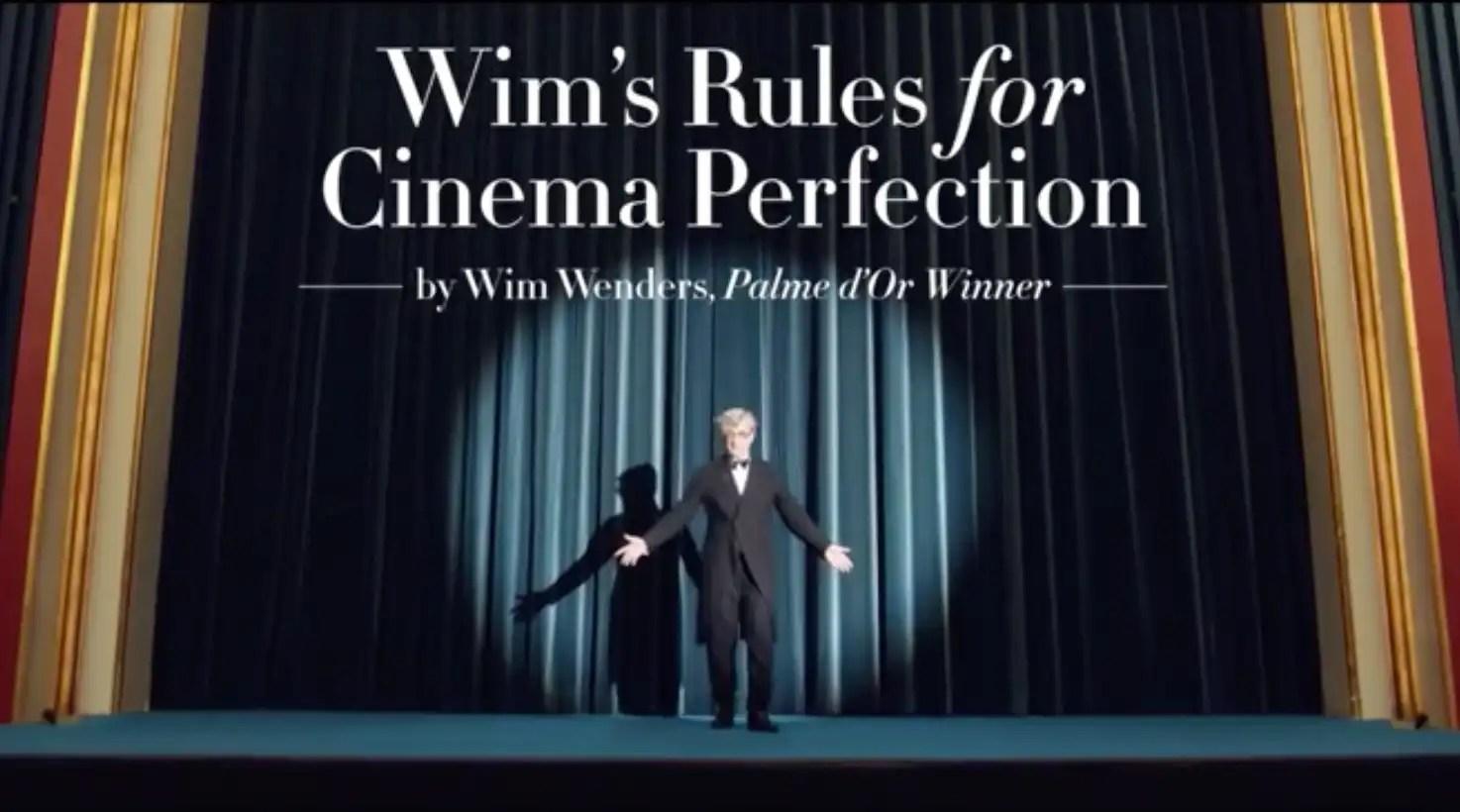 As regras do cinema segundo Wim Wenders – Take 2