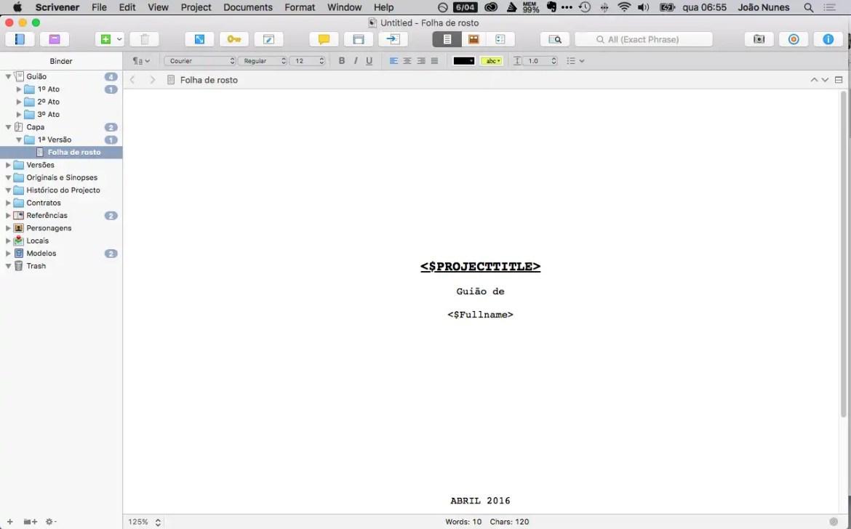aplicativos de escrita-scrivener