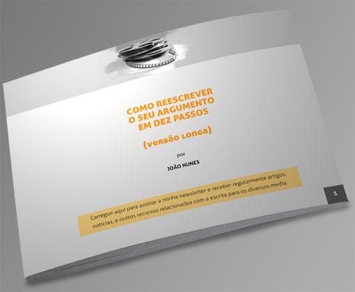 Capa ebook Reescrita do argumento por João Nunes