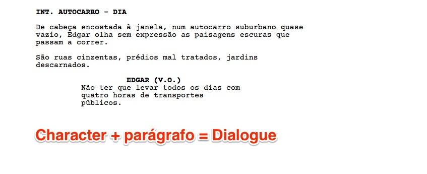 De Character para Dialogue